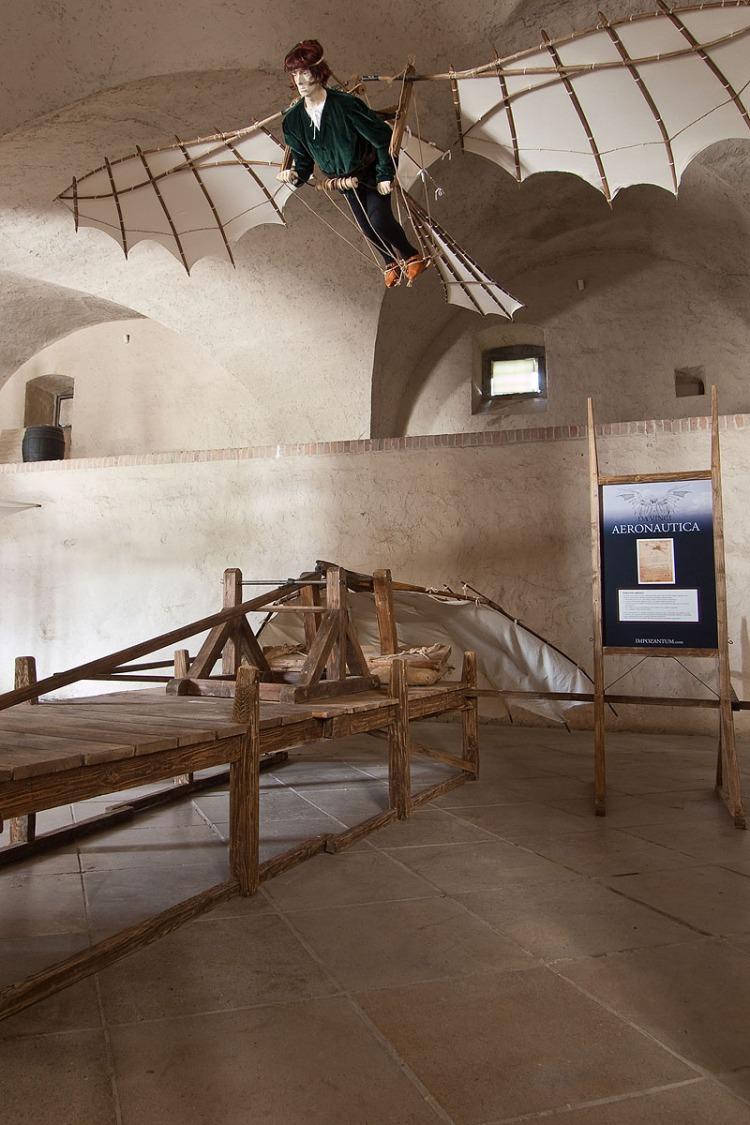 O tom, že majstra Leonarda fascinovalo lietanie sa môžeme uistiť podľa množstva nákresov a štúdií, ktoré tejto problematike venoval a ktoré vznikali priebežne vo viacerých obdobiach jeho tvorivej činnosti.