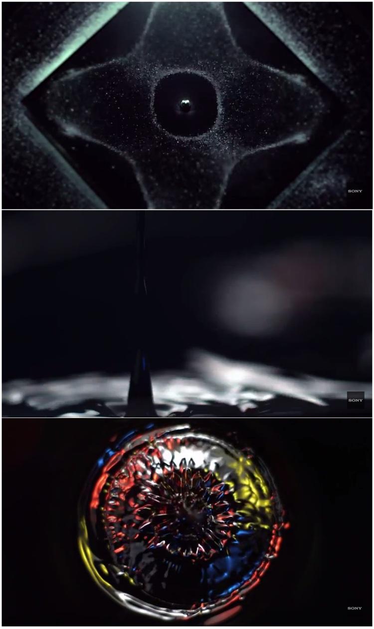 Spoločnosť Sony testovala akustický výkon svojho nového vysoko výkonného domáceho audiosystému MHC - V7D pomocou vizualizácie hitu Hideaway od Kieszy. Akustické vodné útvary vznikajú pomocou Petriho misiek naplnených vodou umiestnených na subwoofri novinky MHC-V7D.