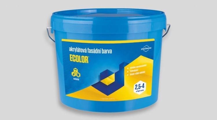Rad výrobkov Ecolor slovenského producenta STACHEMA Bratislava a.s. tvoria akrylátové farby, v ktorých sa spájajú vynikajúce hydofóbne a paropriepustné vlastnosti.