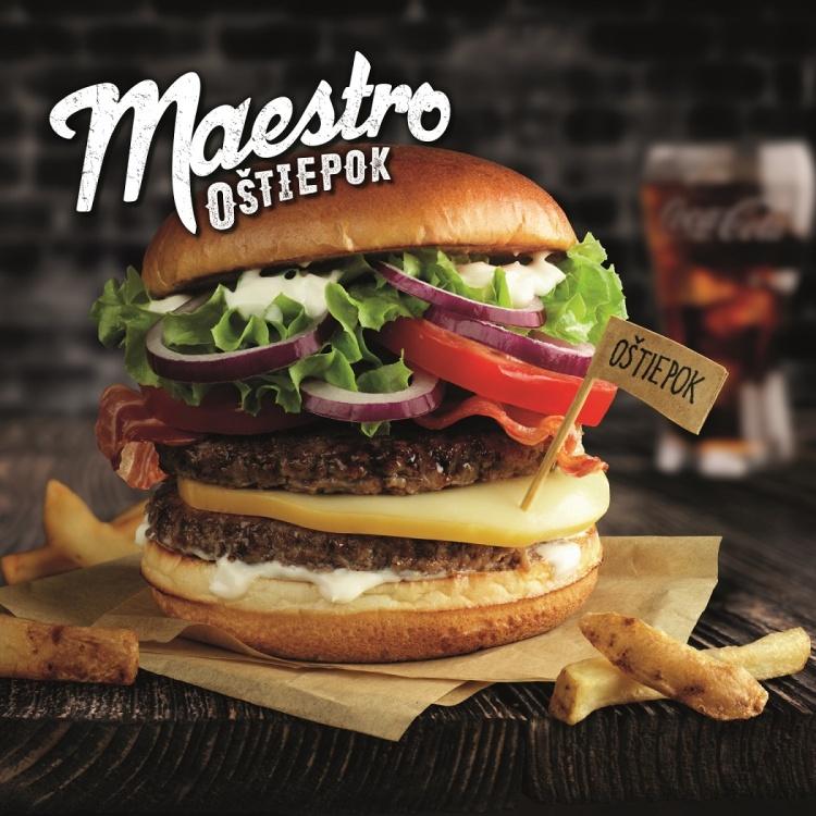 Nový sendvič Maestro Oštiepok vyniká unikátnym prepojením chutí. Hlavnú úlohu v ňom zohráva tradičný slovenský syr oštiepok