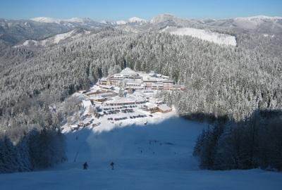 Diváci môžu sledovať Snowboardfest aj priamo z hotela - hotel Šachtička navyše ponúka kvalitnú domácu kuchyňu, vynovený welness, slovenskú kolibu a vyšší štandard ubytovania.