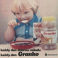 Víťazným názvom v súťaži v roku 1978 bola zvolená skratka z pomenovania GRANulované KakaO – GRANKO.