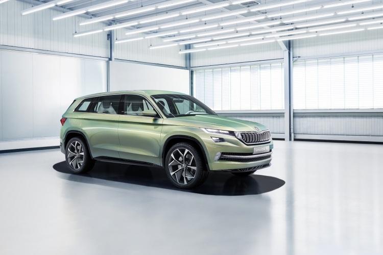 Dizajnová štúdia ŠKODA VisionS odhaľuje budúci vzhľad a techniku automobilov kategórie SUV značky ŠKODA