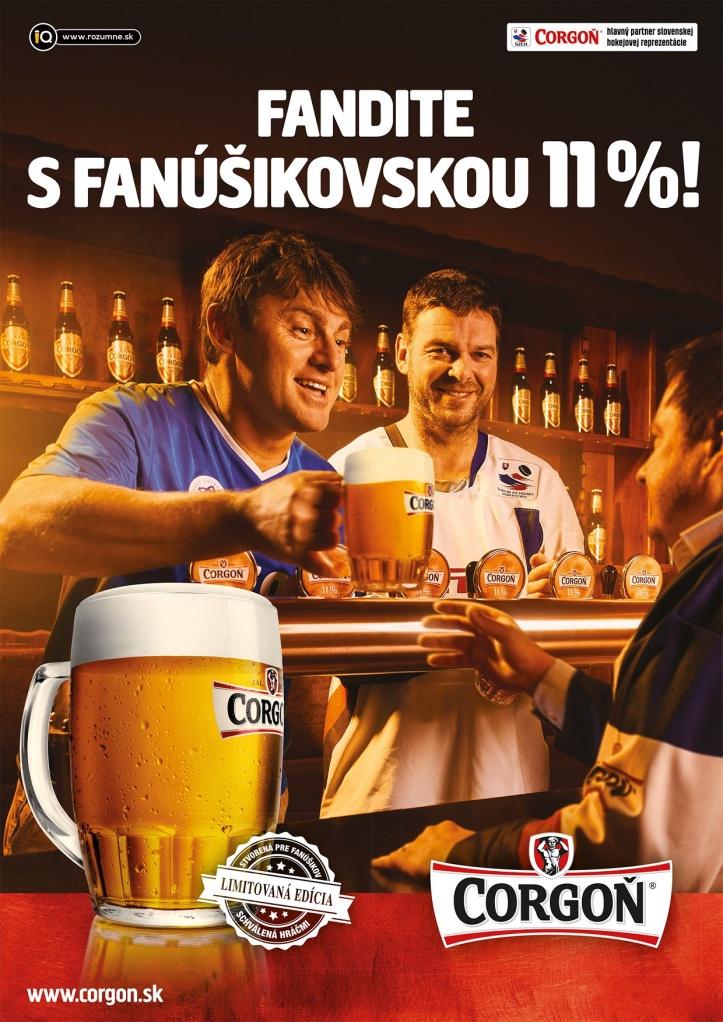 Jozef Stümpel a Ľuboš Moravčík testovali pivo pre fanúšikov Corgoň Fanúšikovská 11-ka