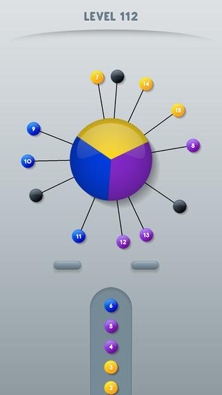 Cieľom hry Color Pin je zapichávanie špendlíkov do voľných miest na točiacom sa kruhu.