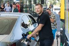 Štefan Svitko na otvorení stanice. Celková investícia je na úrovni 1,7 milióna EUR apatrí vsegmente servisných staníc medzi najväčšie vrámci spoločnosti.