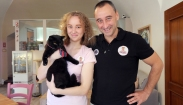 Peter Lipták s dcérou a kandidátkou Mafia Ellmar Kiss.
