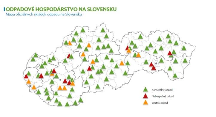 Mapa ociálnSkládok odpadu na Slovensku